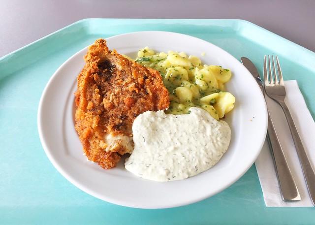 Gebackene Scholle mit Kartoffel-Gurken-Salat & Remoulade [06.03.2019]