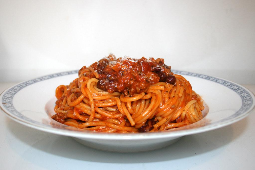 Spaghetti mich Hackfleisch-Bohnen-Tomatensauce [23.03.2019]