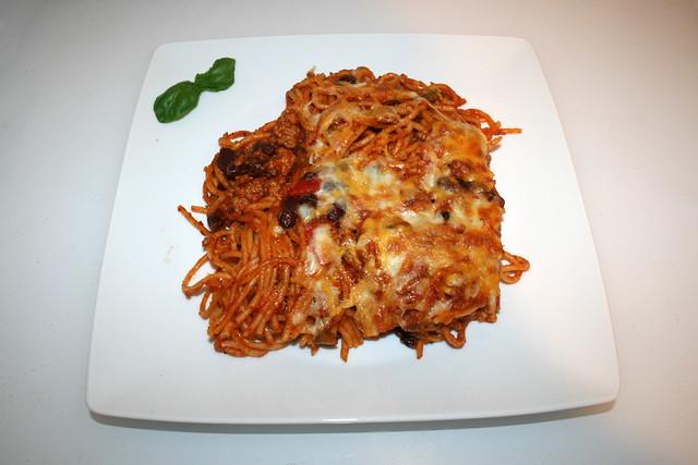Gebackene Spaghetti mit Paprika & Kidneybohnen – Recooked