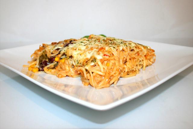 Cremig-pikanter Hähnchen-Spaghetti-Auflauf – das verbesserte Rezept