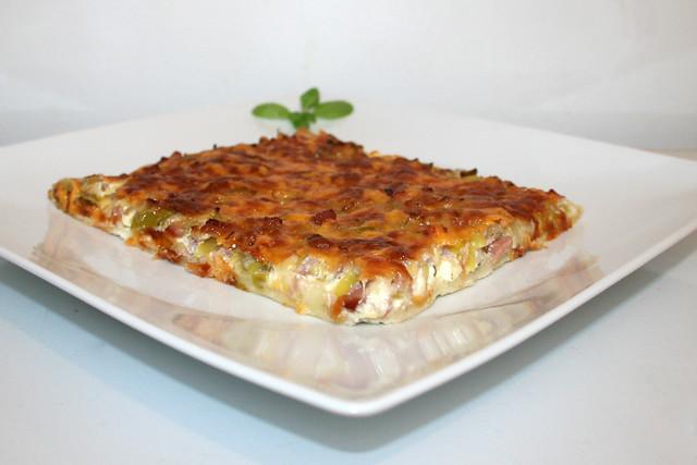 Lauch-Schinken-Pizza – das Kurzrezept