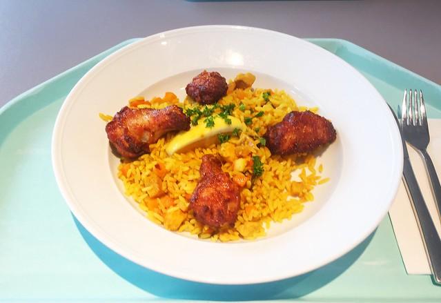 Spanische Paella mit Meeresfrüchten, Hühnchen & Seelachs [01.08.2019]