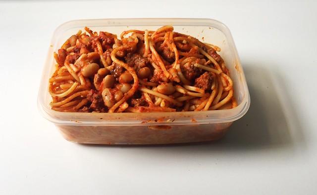 Spaghetti mit Hackfleisch-Tomaten-Bohnen-Sauce [14.08.2019]