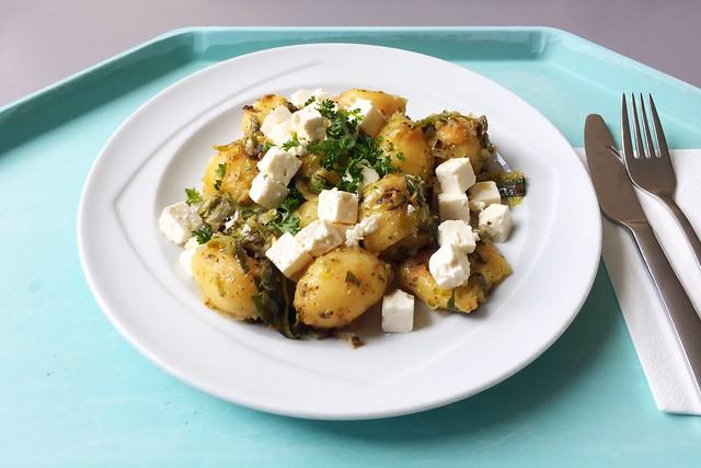 Kartoffelgeröstl mit Lauch & Hirtenkäse [21.08.2019]