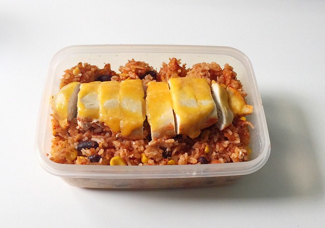 Mexikanischer Hähnchen-Reis-Auflauf – Resteverbrauch [09.09.2019]