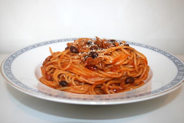 Spaghetti mit Hackfleisch-Bohnen-Tomatensauce [12.09.2019]