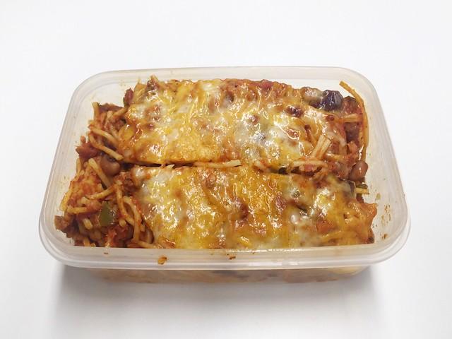 Hackfleisch-Nudelauflauf mit Paprika & Bohnen – Resteverbrauch [02.12.2019]