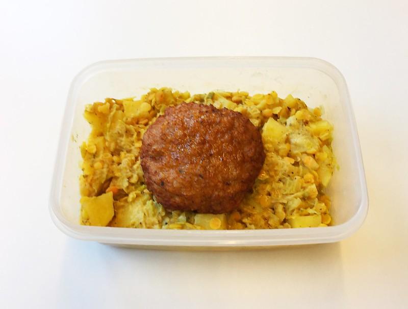 Lauch-Linsen-Gemüse mit Fleischpflanzerl [10.12.2019]