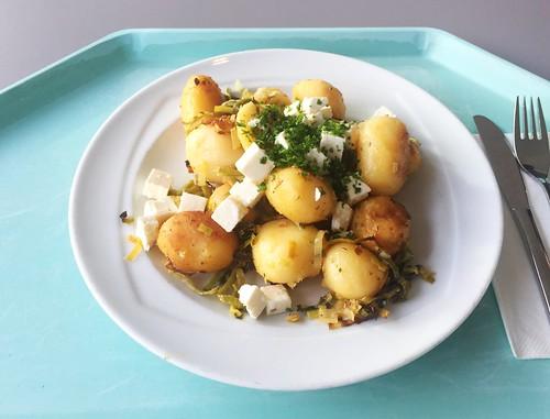 Kartoffelgeröstl mit Lauch & Hirtenkäse [14.01.2019]