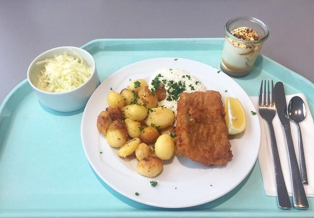 Gebackener Seelachs mit Remoulade & Röstkartoffeln [14.02.2020]