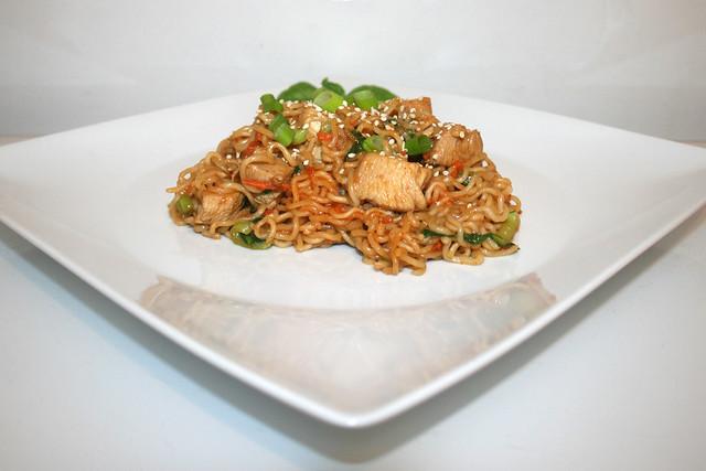Teriyaki Chicken Ramen mit Pak Choi – das Rezept