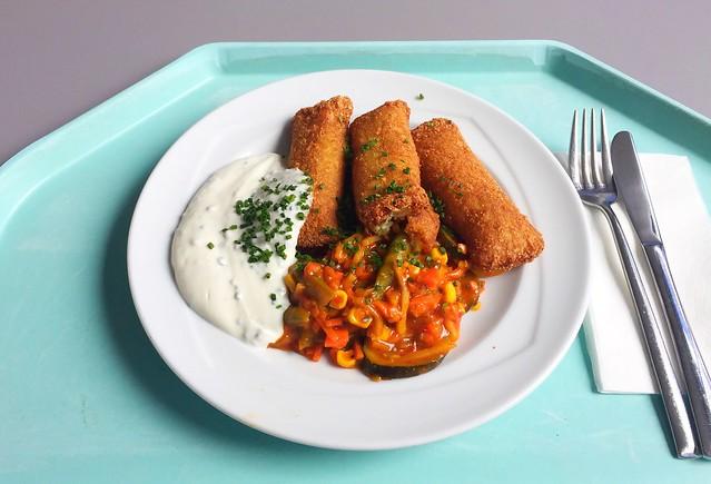 Kartoffel-Frischkäsetaschen mit südafrikanischem Gemüserelish & Schnittlauchdip [03.03.2020]
