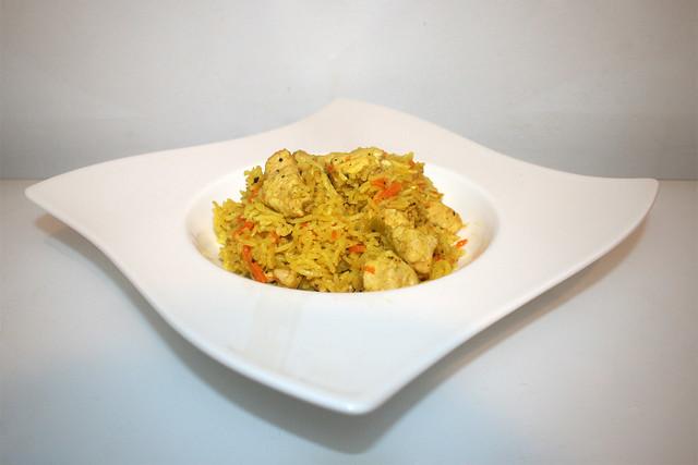 Schneller Hähnchen-Reis-Auflauf – das Rezept