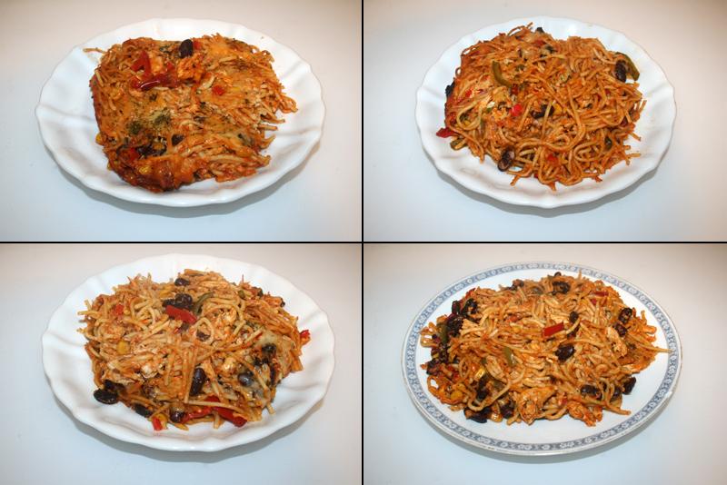 Hähnchen-Spaghetti-Auflauf mit hausgemachter Pasta – Resteverbrauch [22-25.03.2020]
