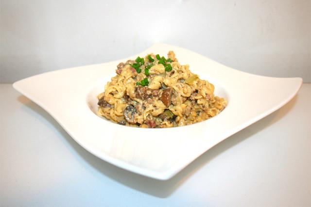 Spirelli-Topf mit Lauch & Pilzen – das Rezept