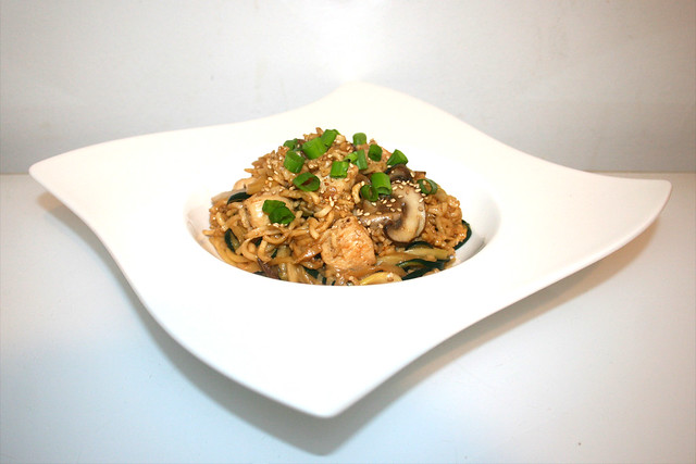 Kung Pao Nudeln mit Hähnchen – das Rezept