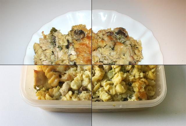 Broccoli-Nudelauflauf mit Hähnchen & Pilzen – Resteverbrauch [28.06. – 01.07.2020]