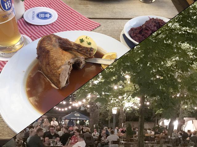 Viertel Entenbrust mit Knödel & Blaukraut @ Hofbräukeller Wiener Platz [26.08.2020]