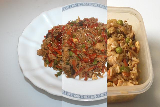 Asiatischer Bratreis mit Huhn & Gemüse – Restevebrauch [04.-06.10.2020]