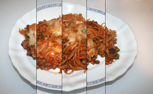 Spaghetti-Auflauf mit Lauch & Pilzen – Resteverbrauch [09.- 13.10.2020]