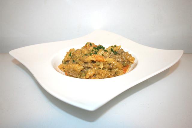 Spirelli-Topf mit Paprika, Erbsen & Möhren – das Rezept