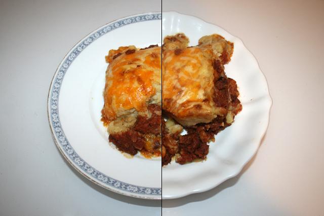 Corned Beef Auflauf mit Sauerrahm-Kartoffelpüree – Resteverbrauch [25 & 26.10.2020]