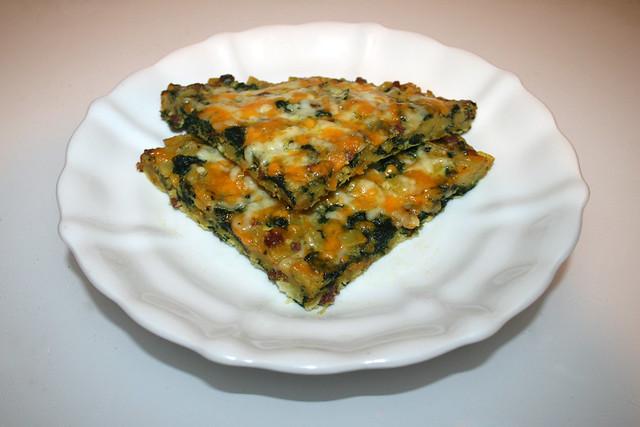 Frittata mit Kartoffeln, Spinat & Speck – Resteverbrauch [28.10.2020]