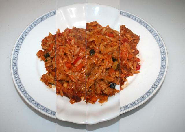Italienische Kritharaki-Gemüse-Pfanne mit Puten – Resteverbrauch [06. – 09.11.2020]