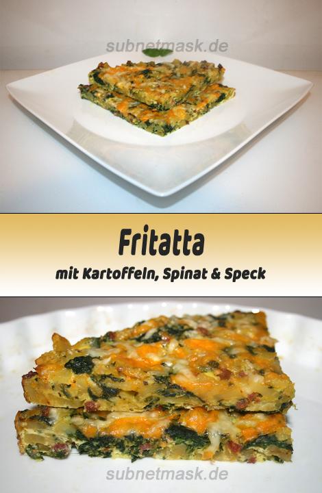 Frittata mit Kartoffeln, Spinat & Speck