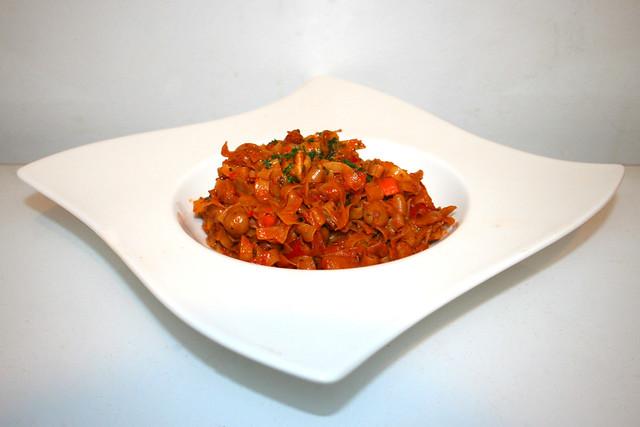 Ajvar-Kichererbsen-Pfanne – das Rezept