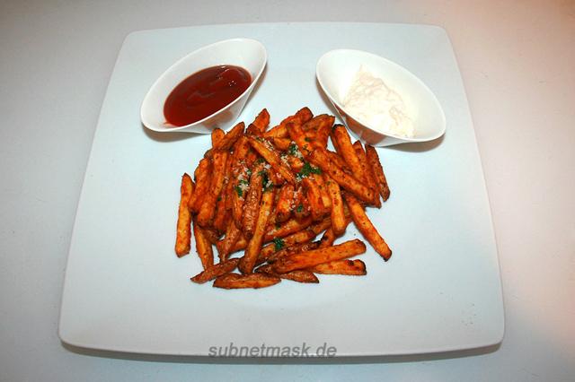 Knoblauch-Parmesan-Fritten aus dem Air Fryer – das Kurzrezept