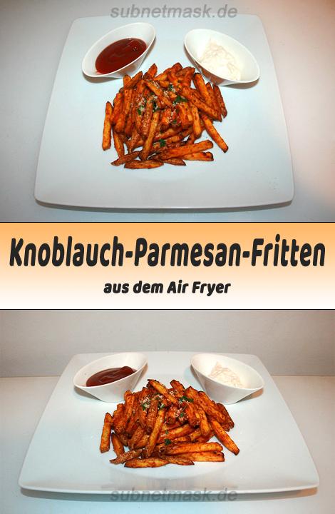 Knoblauch-Parmesan-Fritten aus dem Air Fryer