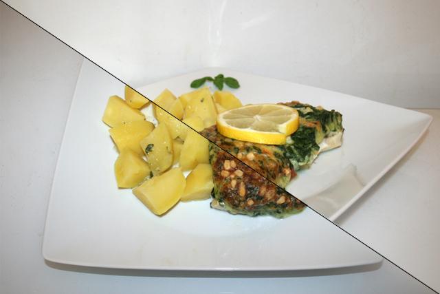 Schlemmerfilet Blattspinat Käse mit Kartoffeln [29.01.2020]