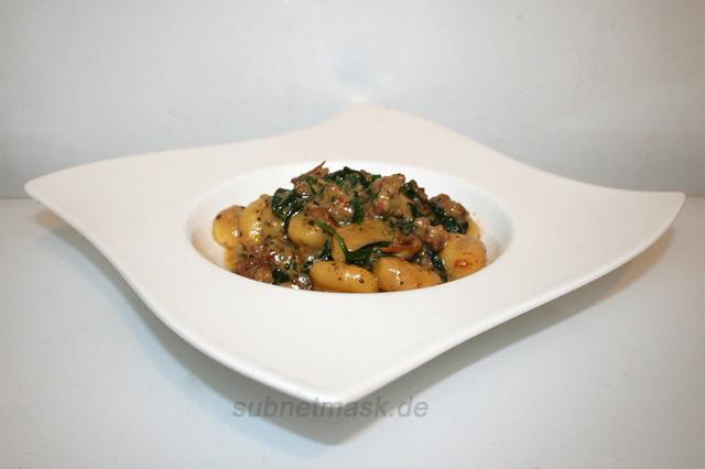 Cremige toskanische Wurst Gnocchi Pfanne mit Spinat – das One Pot Rezept