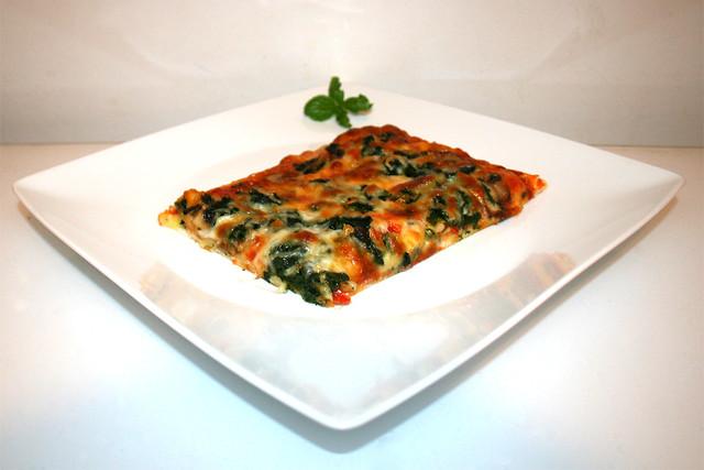 Chorizo-Spinat-Champignon-Pizza – das Kurzrezept