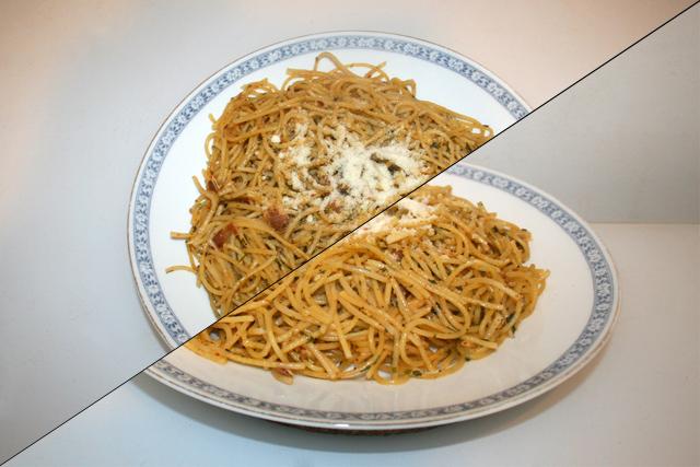 Spaghetti Aglio Olio e Pancetta  – Resteverbrauch [01.-02.08.2021]