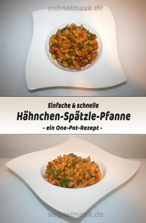 Einfache & schnelle Hähnchen-Spätzle-Pfanne